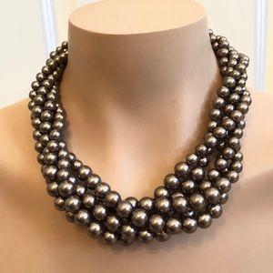 Lia Sophia 5 strand Brown Pearl Necklace